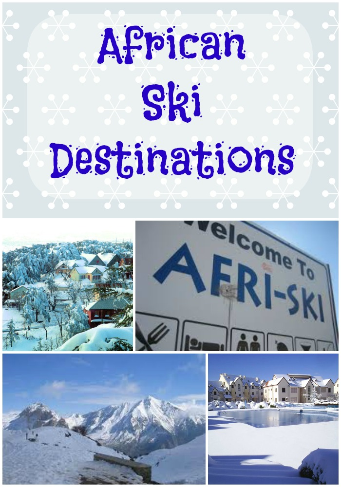African Ski Destinations Collage