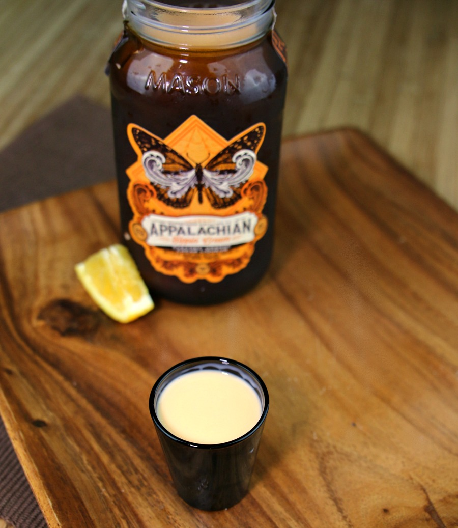 Shot of orange cream moonshine