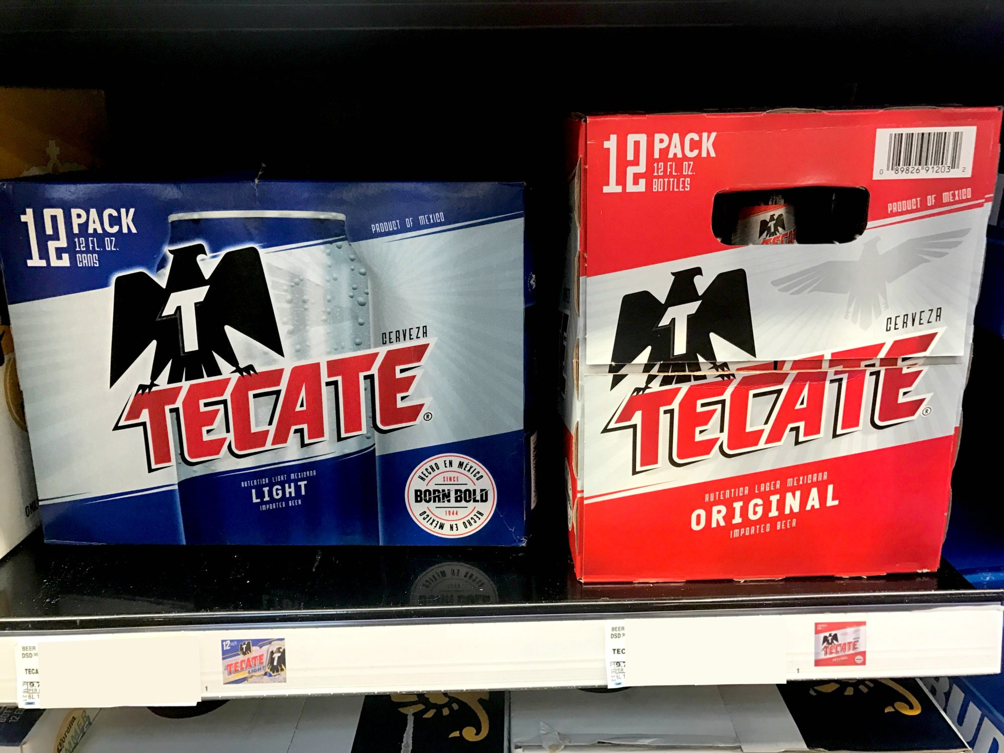 Tecate in store
