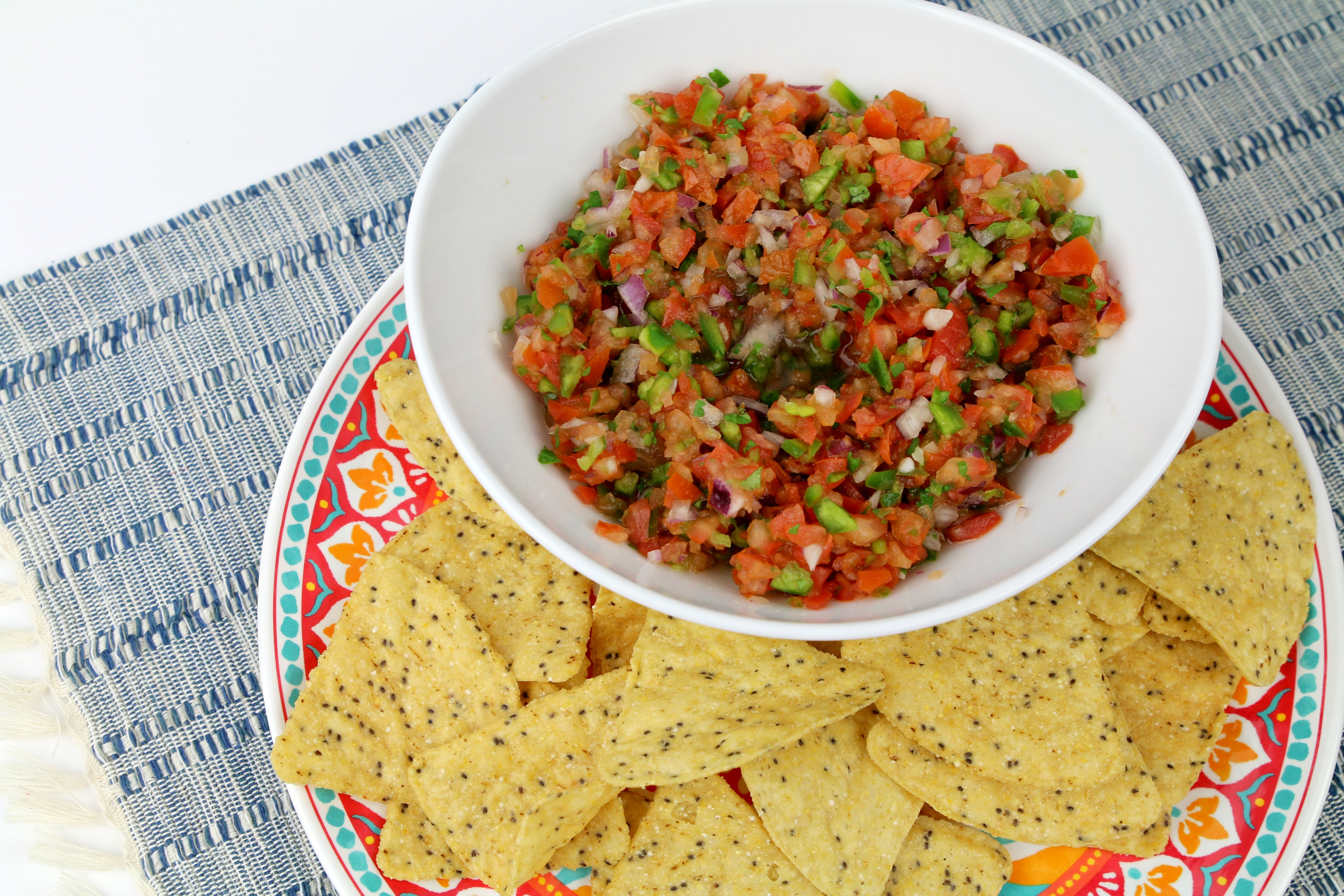 homemade Mexican style pico