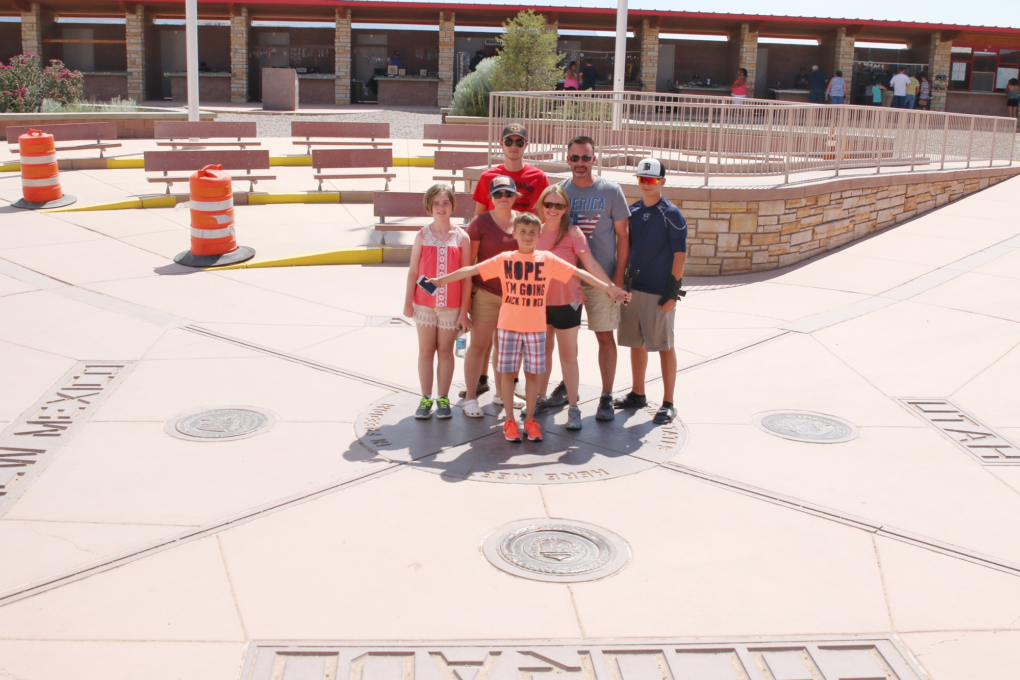 family photo at four corners monument