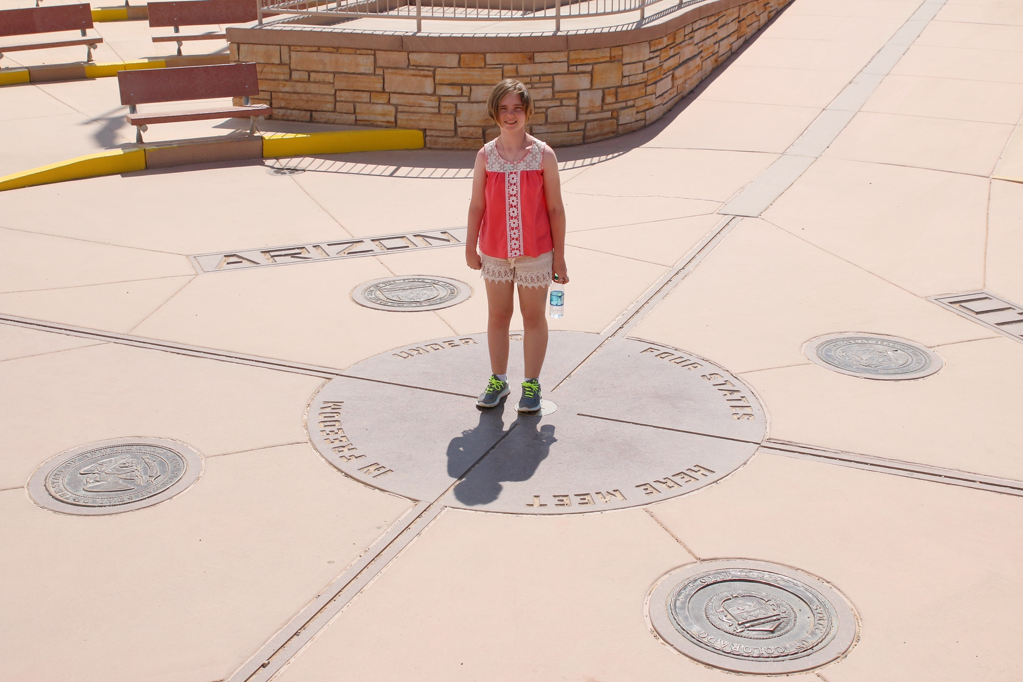 Gabby at four corners monument