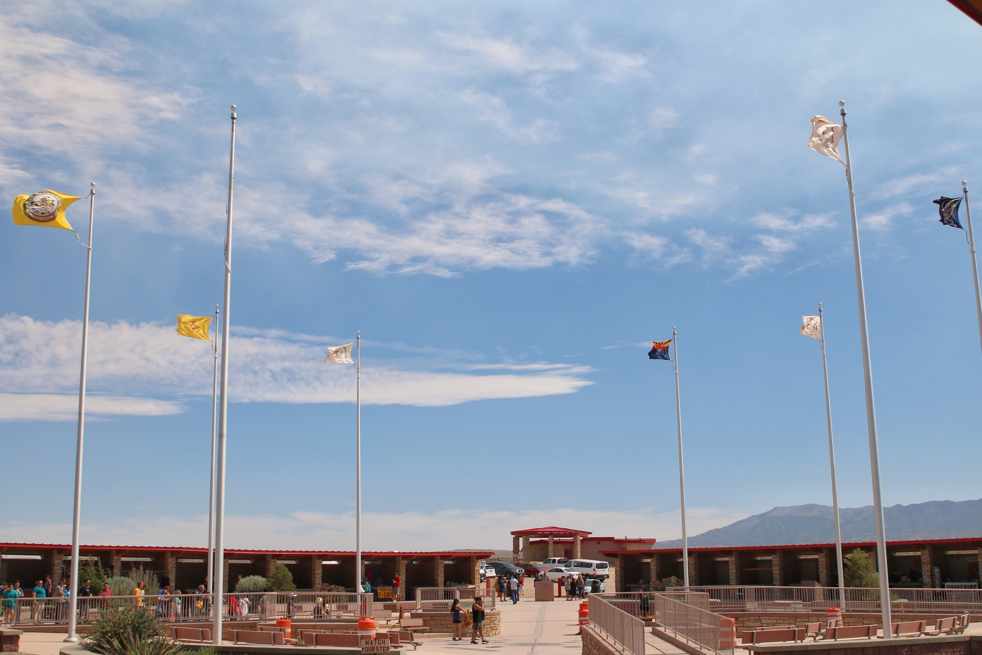 flags at four corners monument