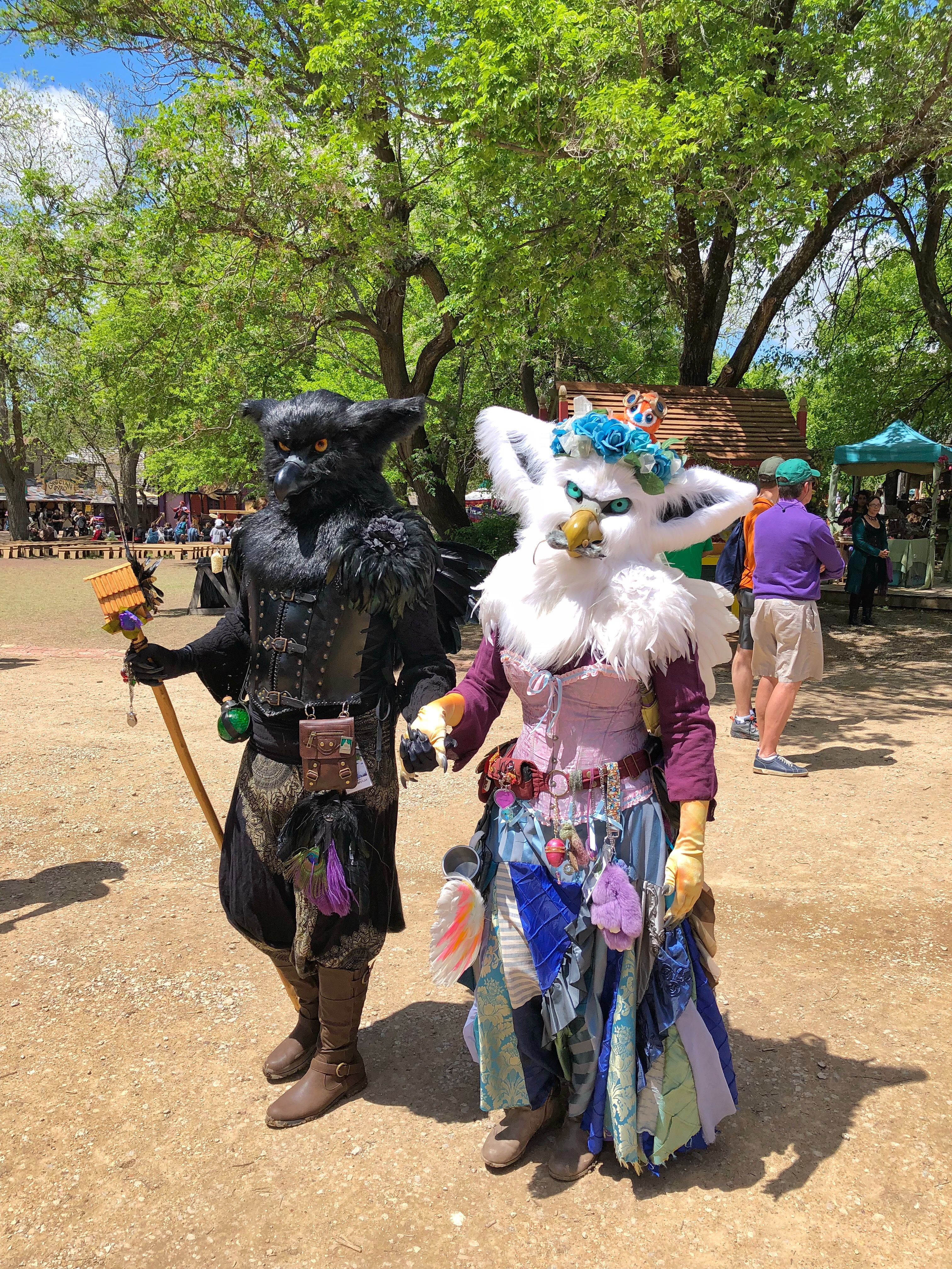 People dressed as rats at Scarborough Fair