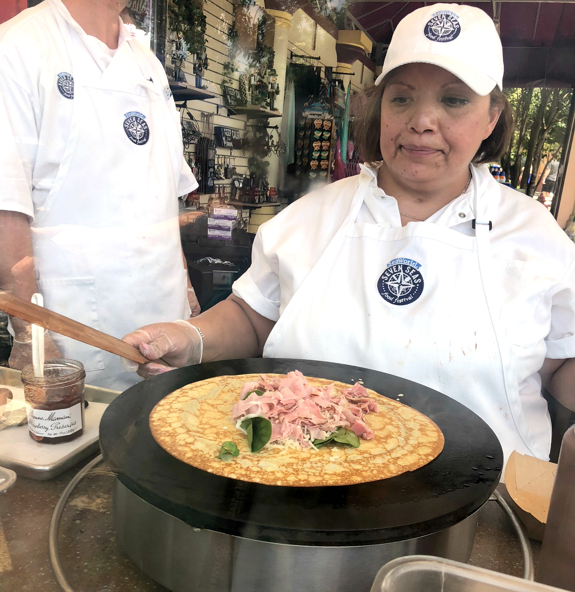 crepes-being-made-at-Seven-Seas-Food-Festival