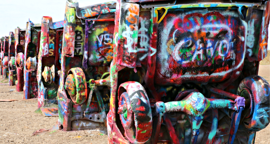 Be a Graffiti Artist at Cadillac Ranch