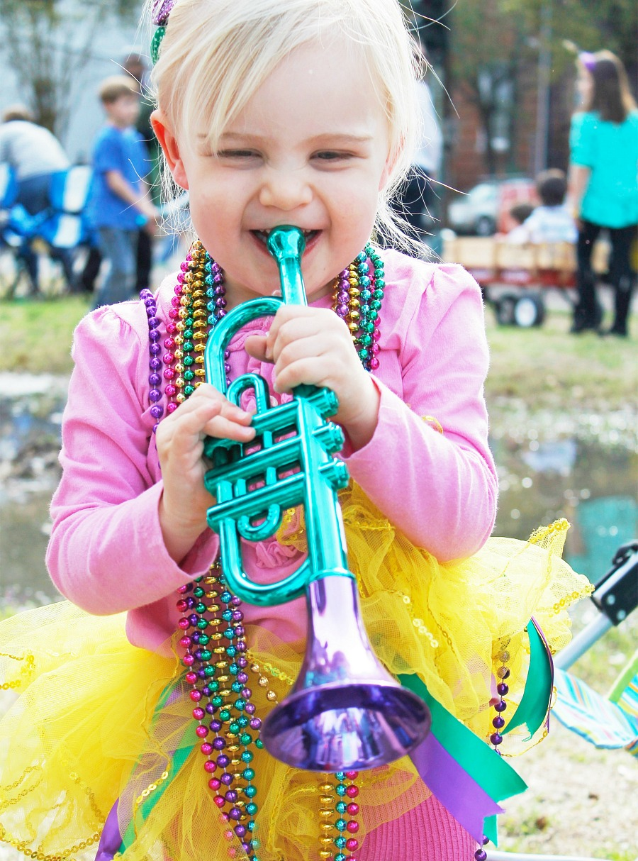kid parade in mardi gras
