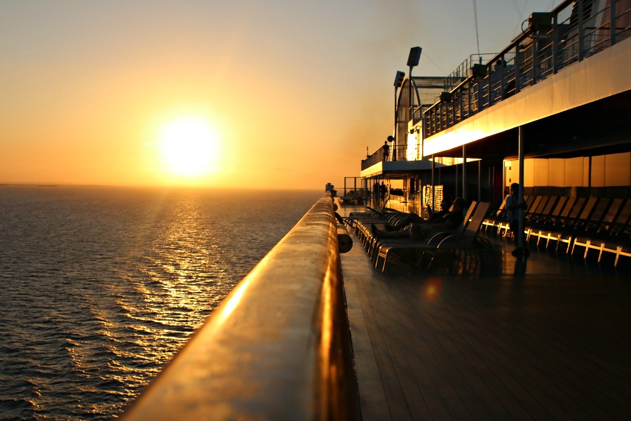 sunset on cruise