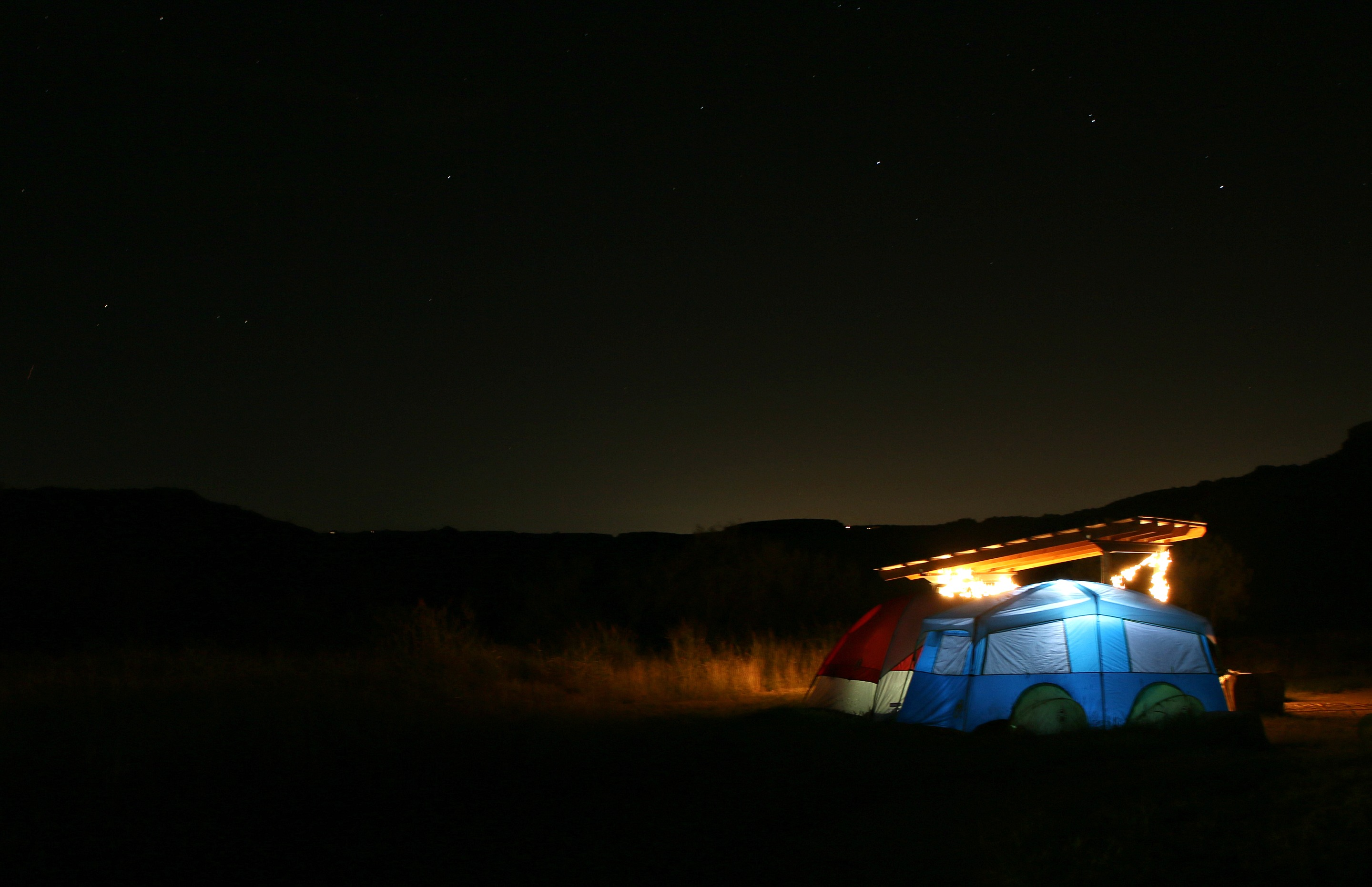 Camping in Palo Duro Canyon