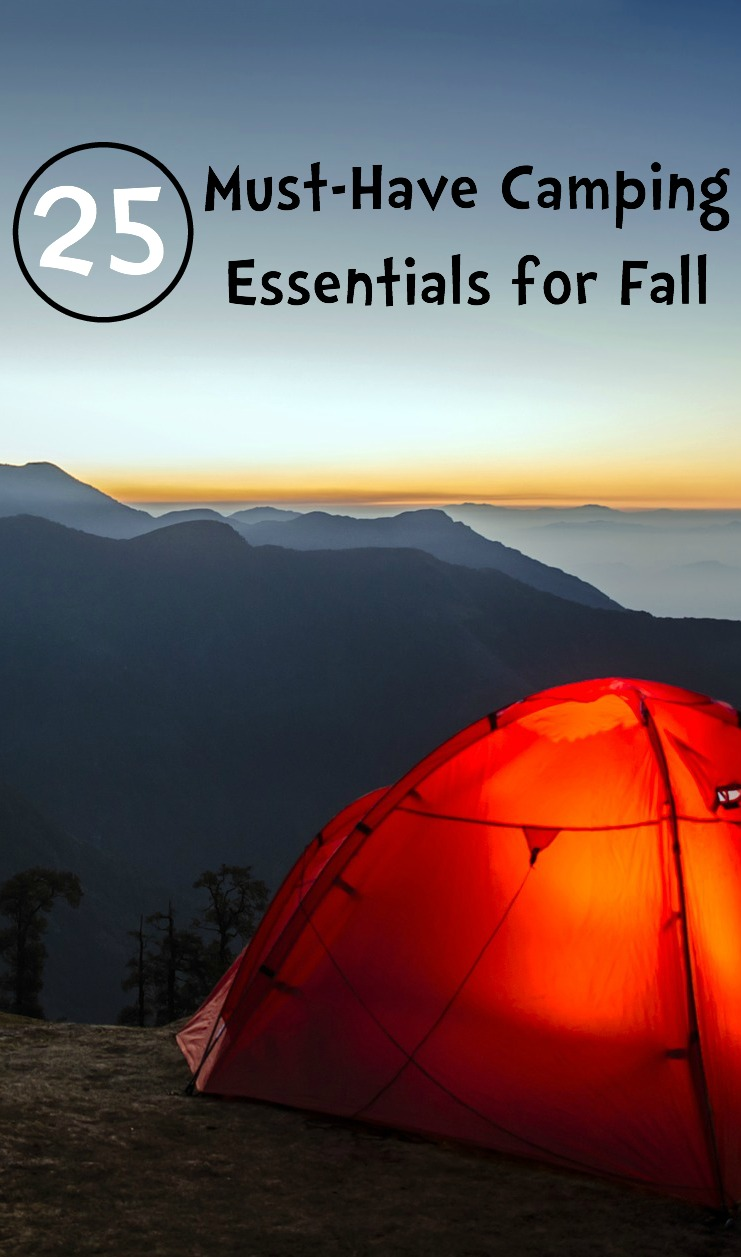 25 Camping Essentials for Fall Pin