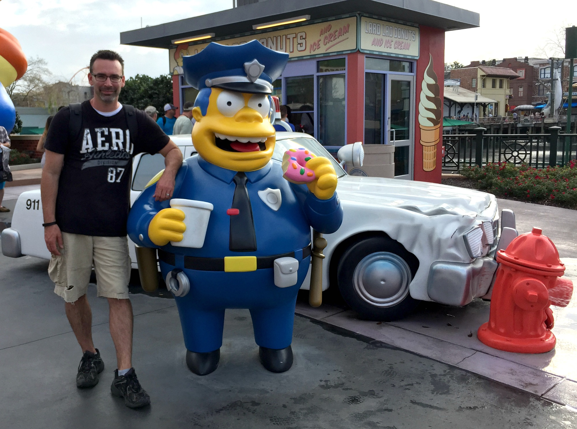 Andrew with Simpson's cop