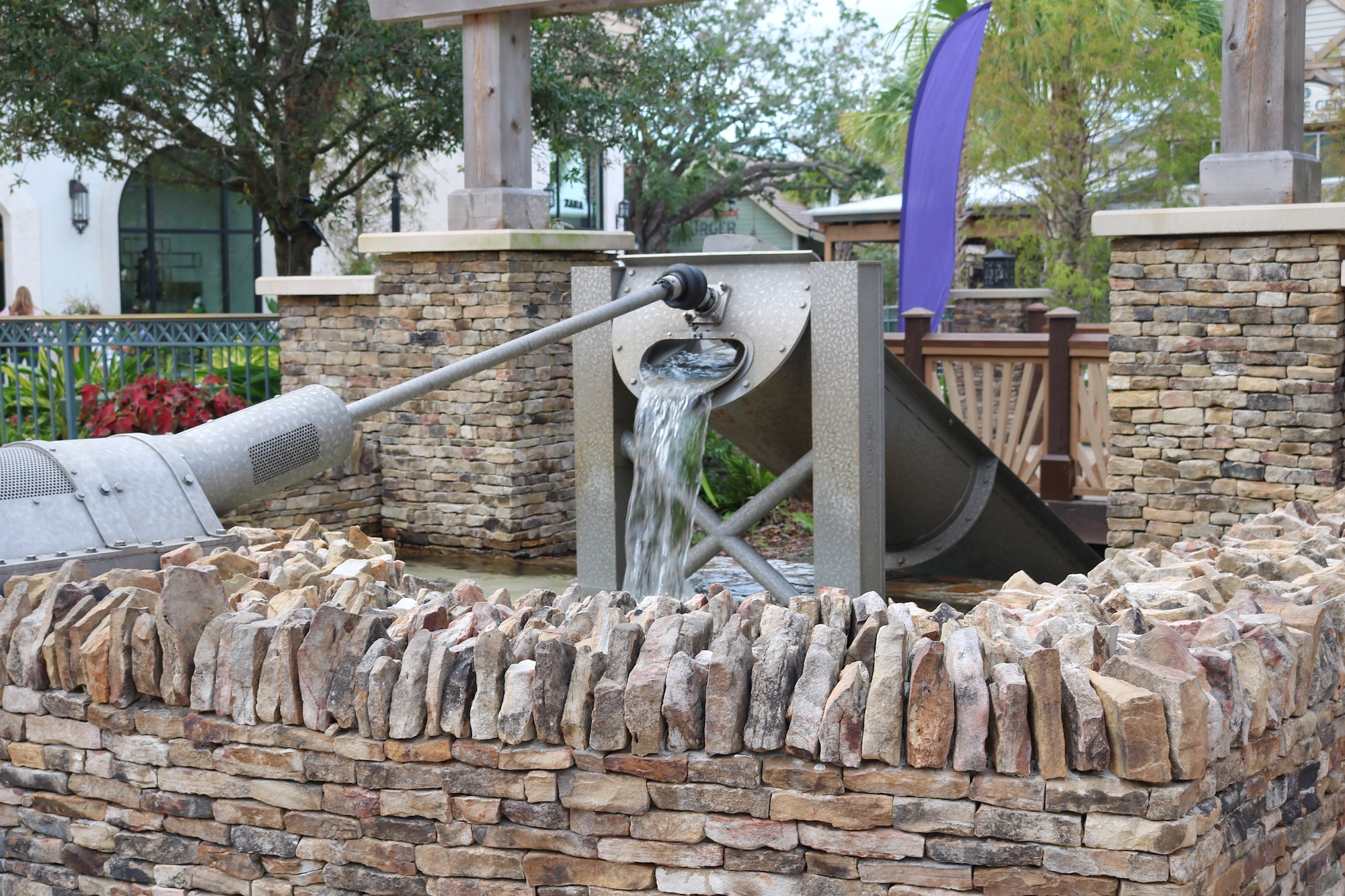 water fountain at Disney Springs