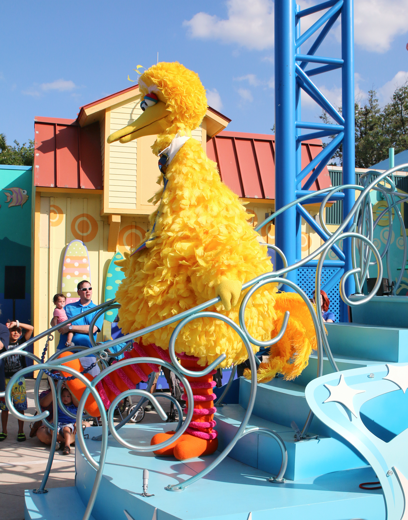 Big Bird dancing at parade