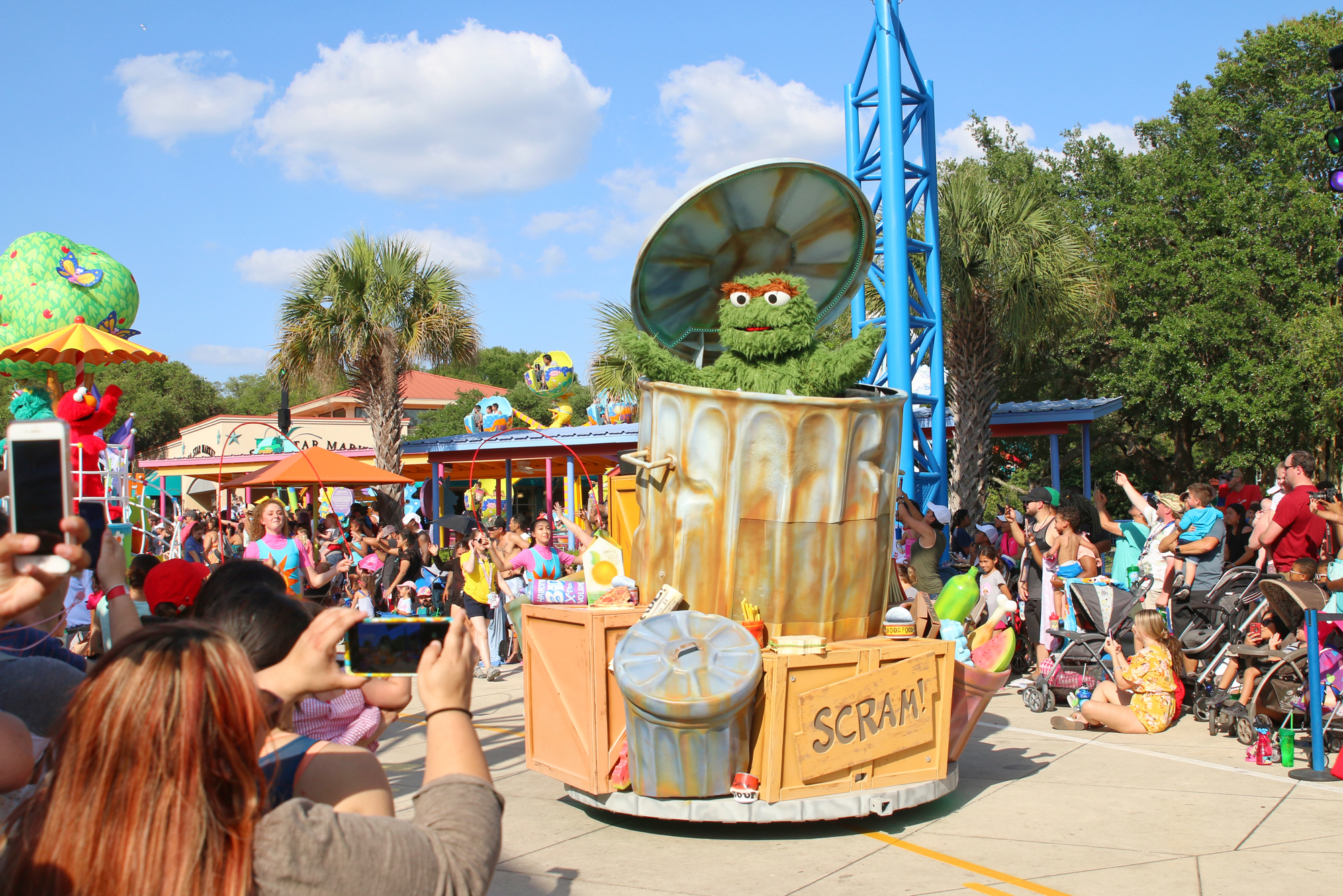 Oscar Grouch on parade float