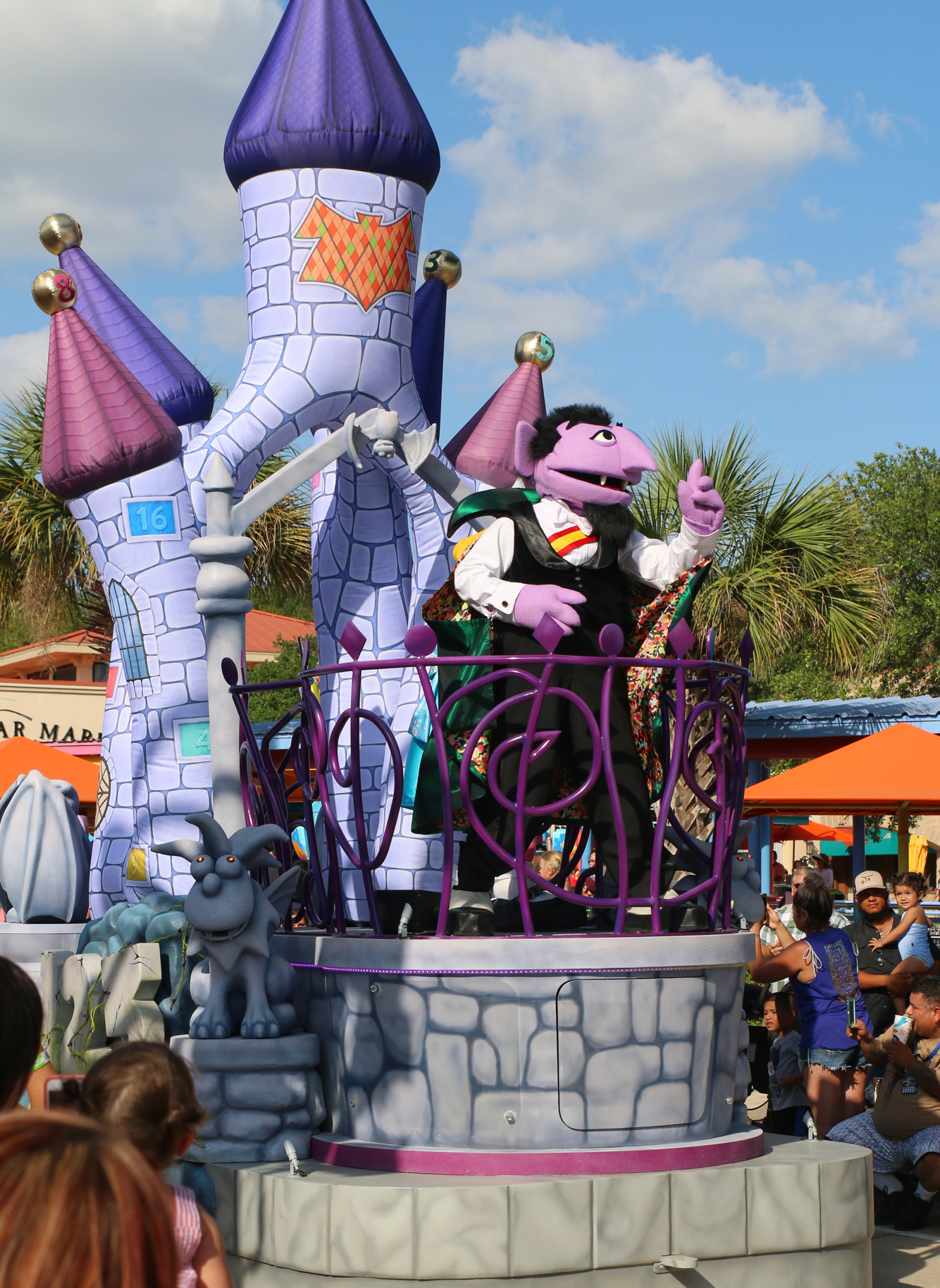 Sesame Street Count Dracula Float