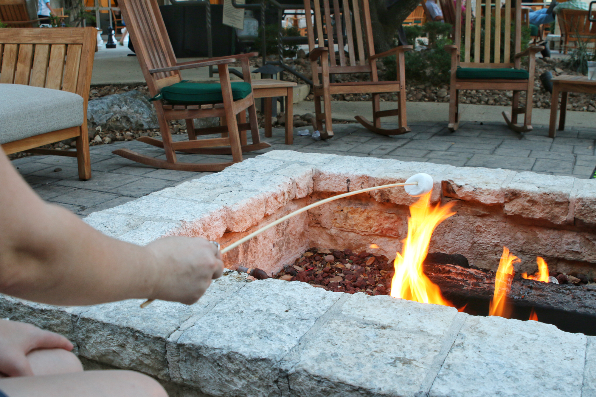 roasting marshmallow at sea world hotel
