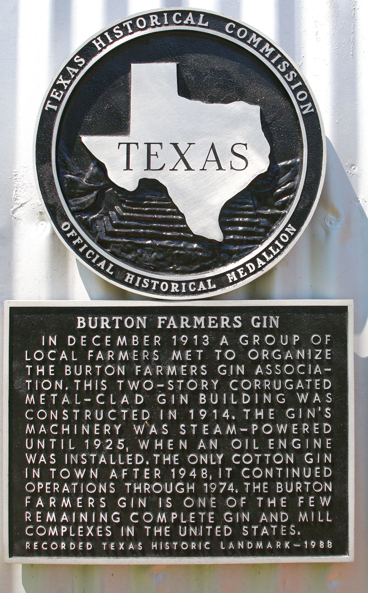 Texas Historical Landmark in Burton Texas