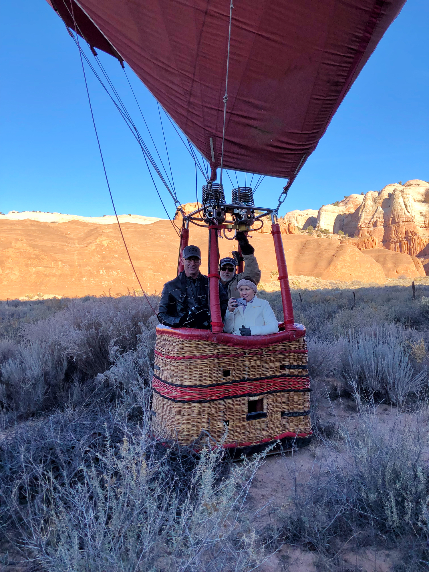 ready to take off on hot air balloon ride