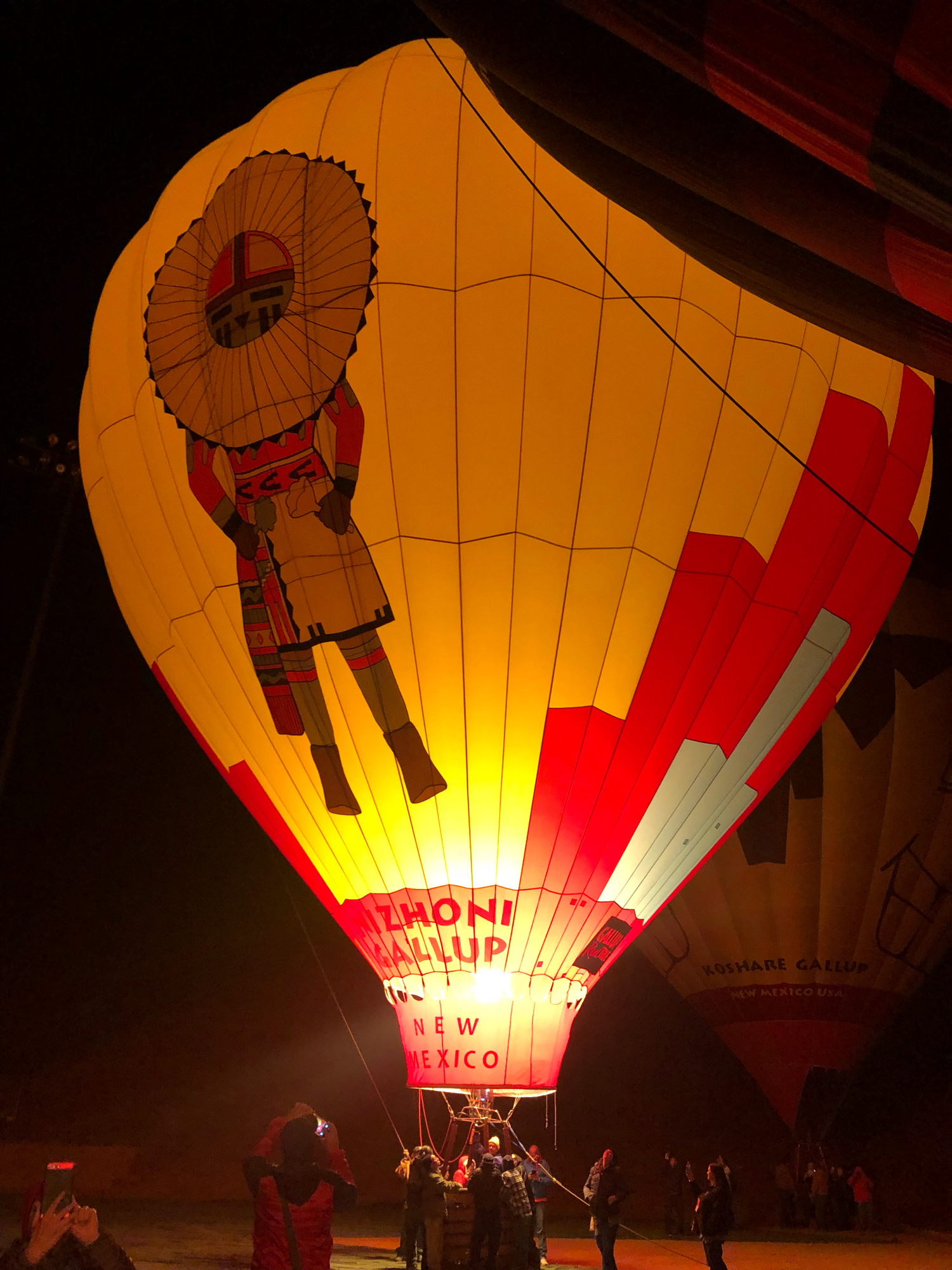 gallup, New Mexico hot air balloon glow