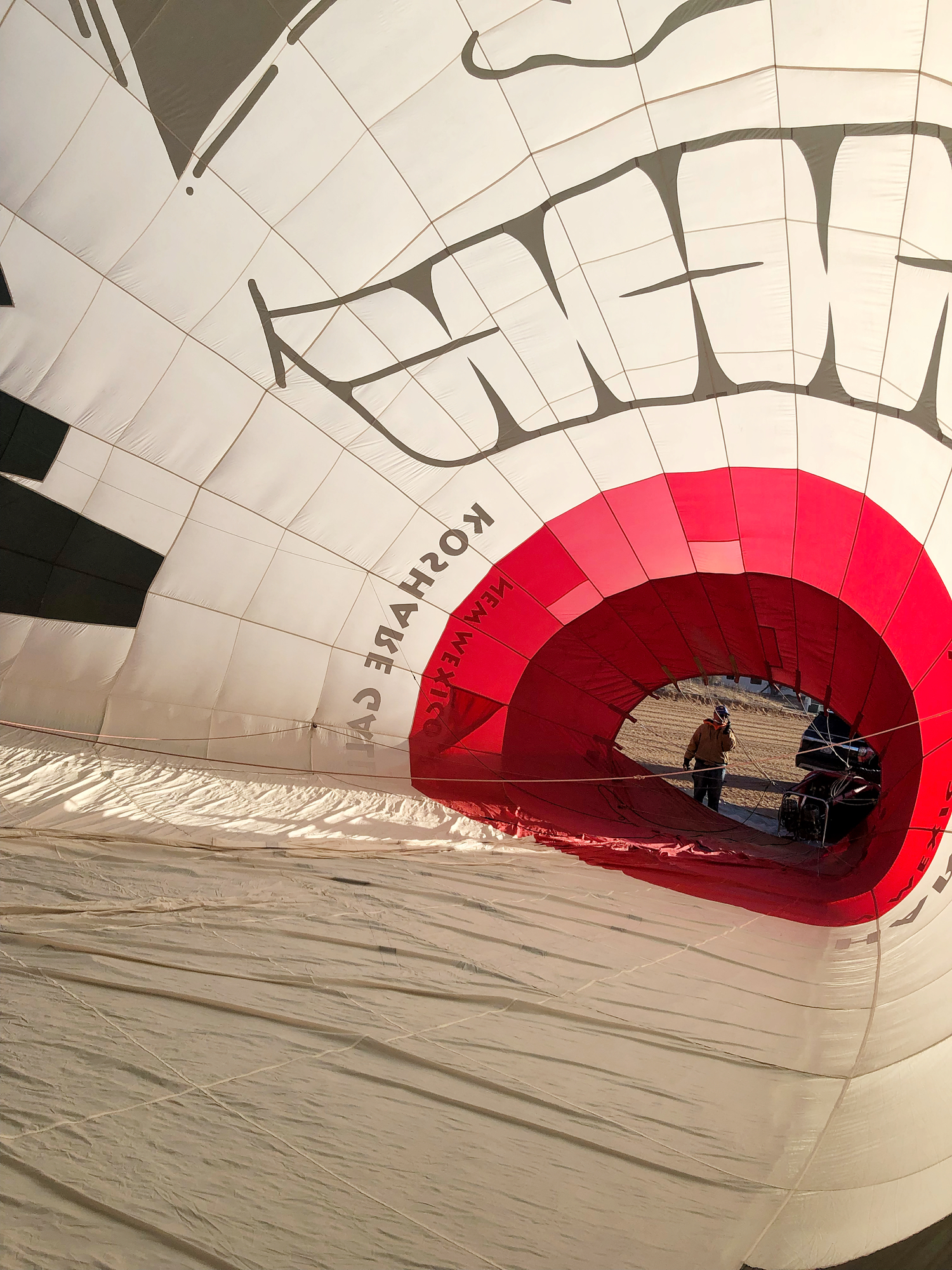 inside view of the hot air balloon