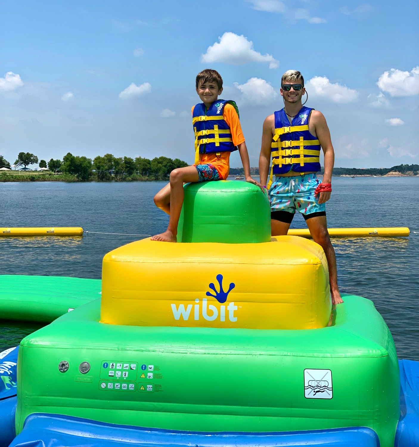 wibit inflatable water obstacle