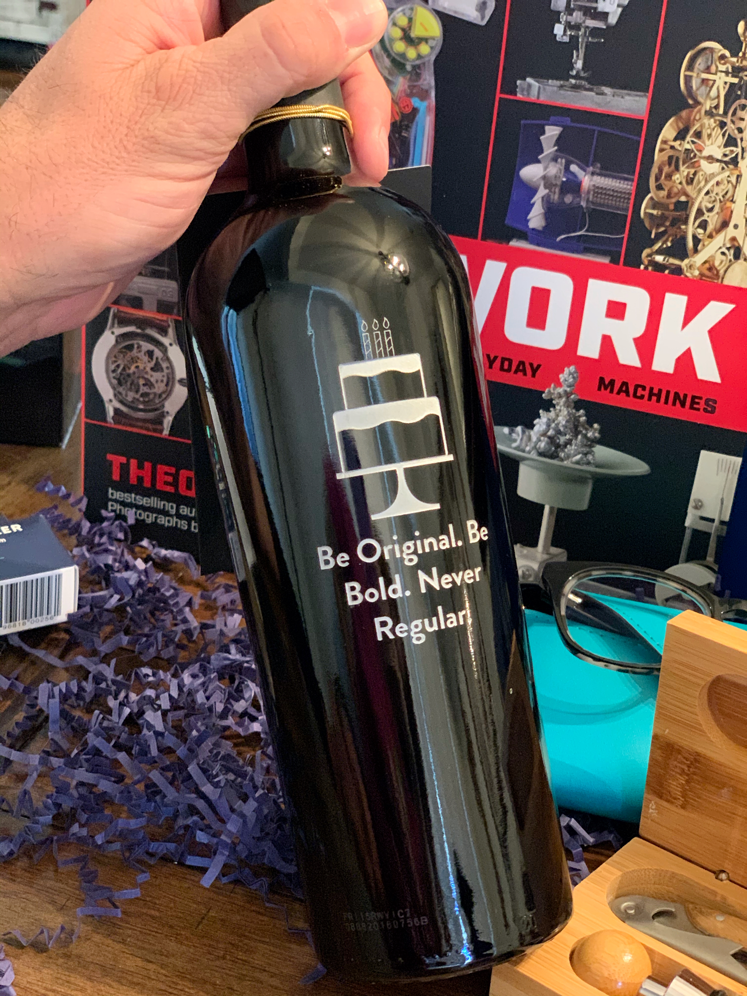 personalized wine bottle gift idea for men
